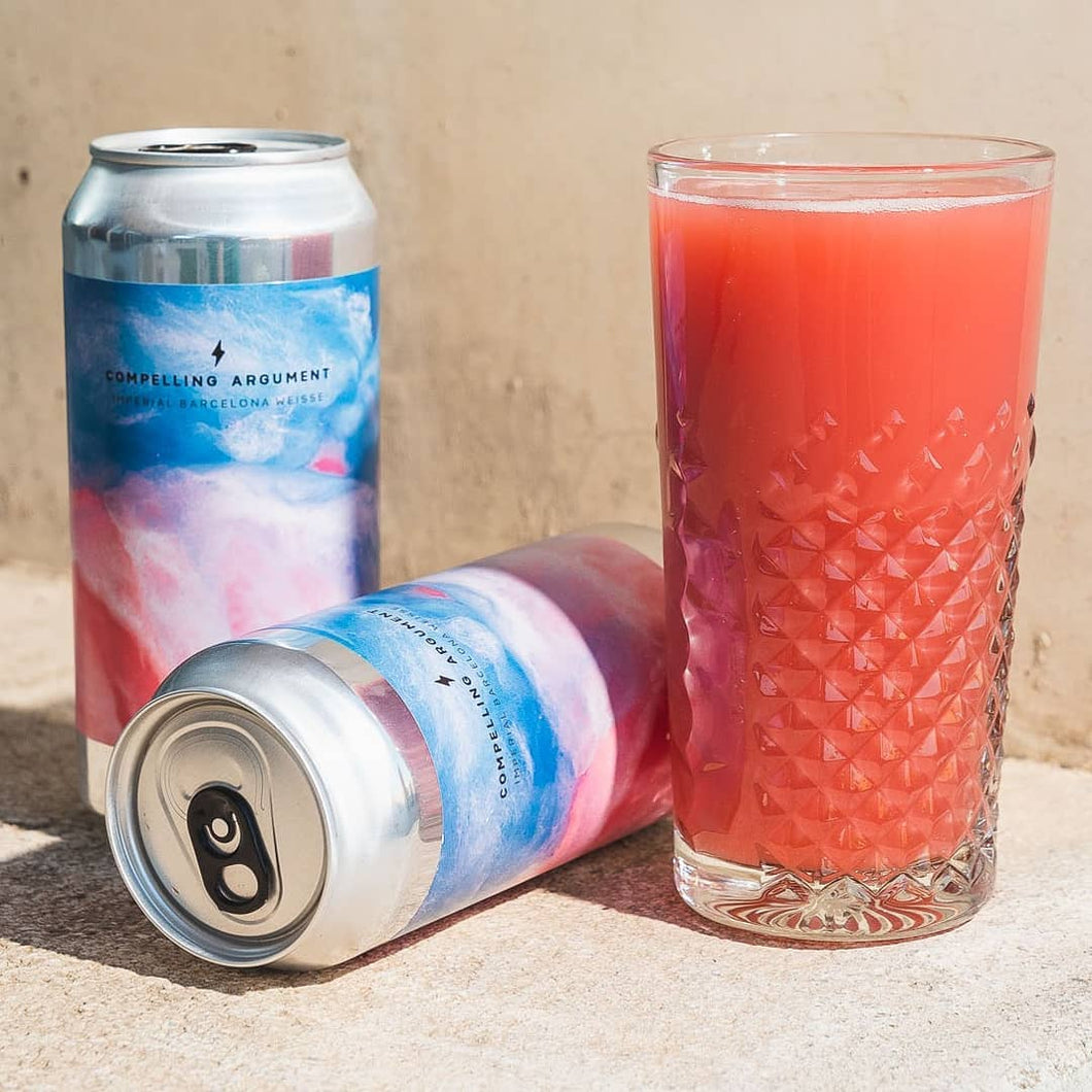 Compelling Argument - Garage Beer Co - Raspberry & Peach Imperial Berliner Weisse, 7.5%, 440ml Can