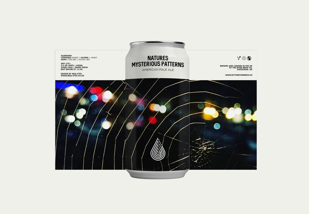 Natures Mysterious Patterns - By The River Brew - American Pale Ale, 5%, 440ml Can