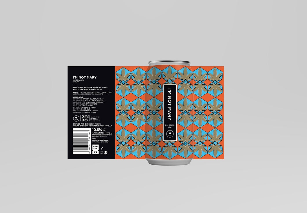 I'm Not Mary - Wylam Brewery - Imperial IPA, 10.6%, 440ml Can