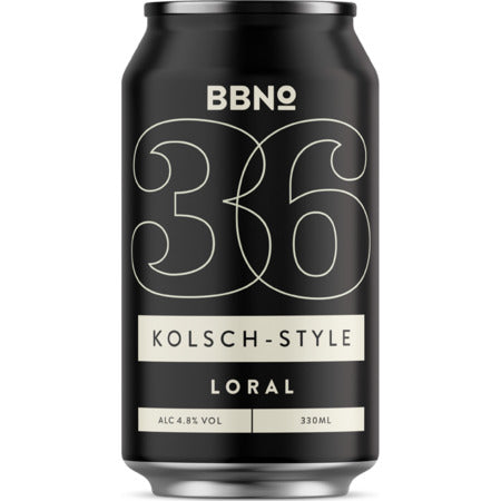 36 | Kolsch-Style Loral - Brew By Numbers - Kolsch Style, 4.8%, 330ml Can