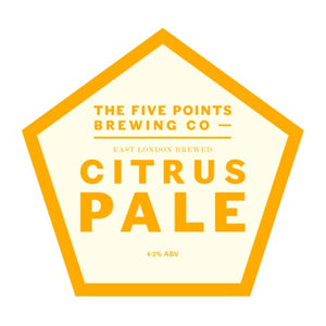 Citrus Pale - Five Points Brewing Co - Citrus Pale Ale, 4.2%, 5 Litre Mini Cask