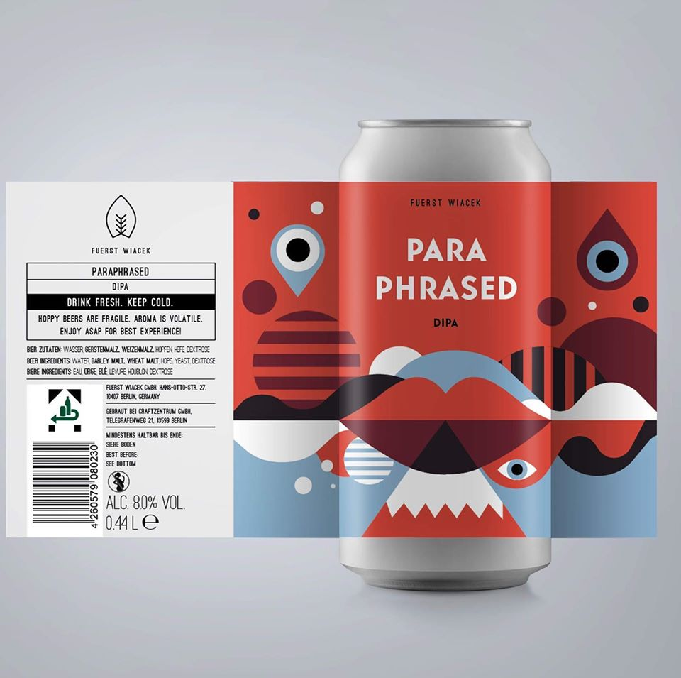 Paraphrased - Fuerst Wiacek - DIPA, 8%, 440ml