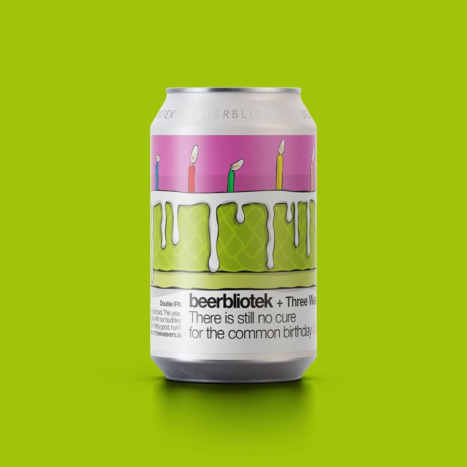 There Is Still No Cure For The Common Birthday - Beerbliotek X Three Weavers - DIPA with Orange Peel, 8%, 330ml Can