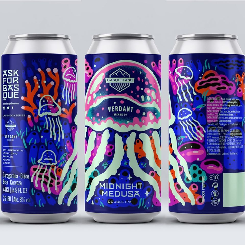Midnight Medusa - Basqueland Brewing Co X Verdant Brewing Co - DIPA, 8%, 440ml Can