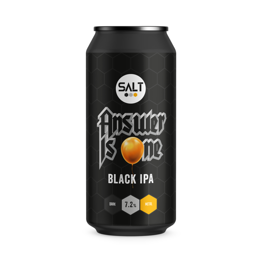 Answer Is One - Salt Beer Factory - Black IPA, 7.2%, 440ml Can