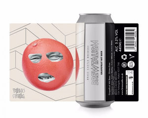 Brewtalism - Brass Castle - Grapefruit Wit Beer, 5.2%, 440ml Can