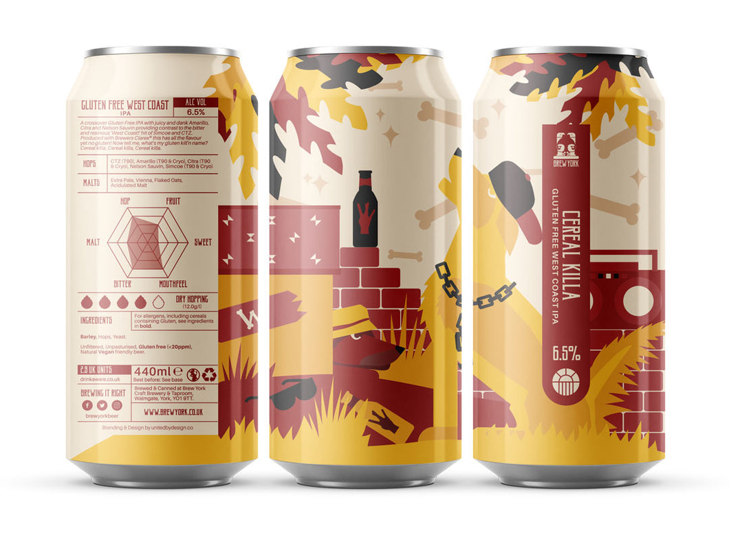 Cereal Killa - Brew York - Gluten Free West Coast IPA, 6.5%, 440ml Can