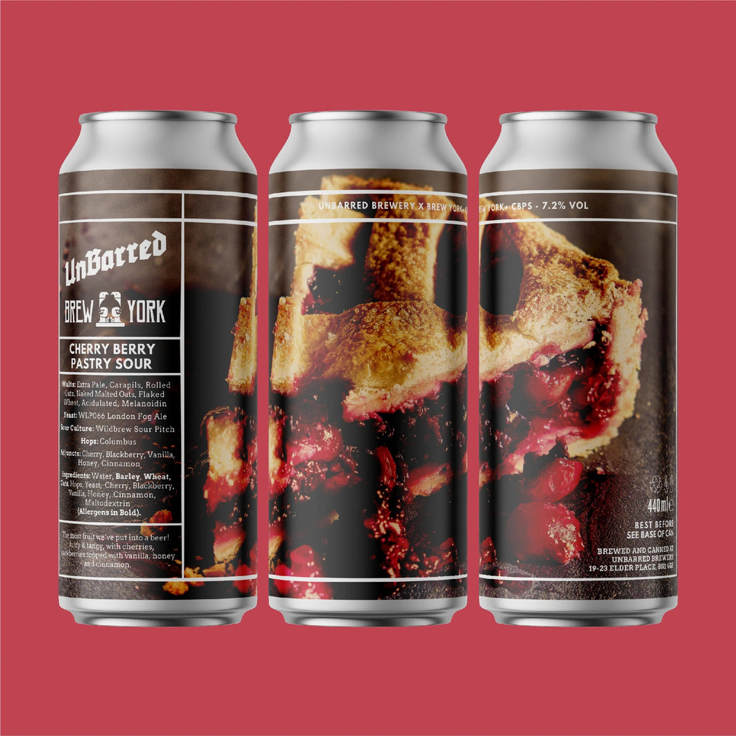 CBPS - Unbarred X Brew York - Cherry Berry Pastry Sour, 7.2%, 440ml Can