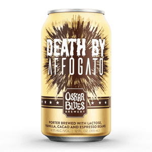 Death By Affogato - Oskar Blues Brewery - Cacao, Vanilla & Espresso Bean Porter, 6.5%, 355ml Can