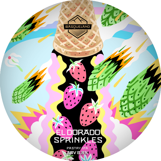 El Dorado Sprinkles - Basqueland Brewing Co - Pastry IPA, 6.8%, 440ml Can