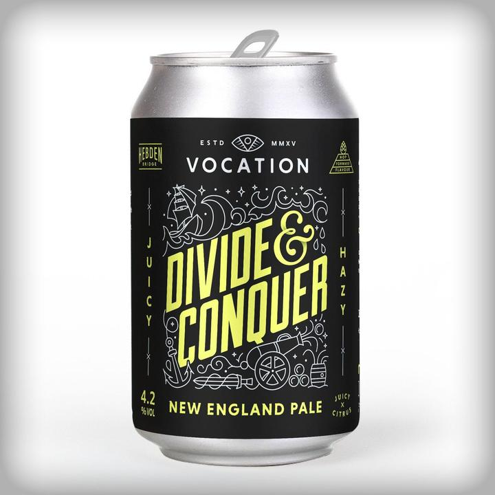Divide & Conquer - Vocation Brewery - New England Pale, 4.2%, 330ml Can