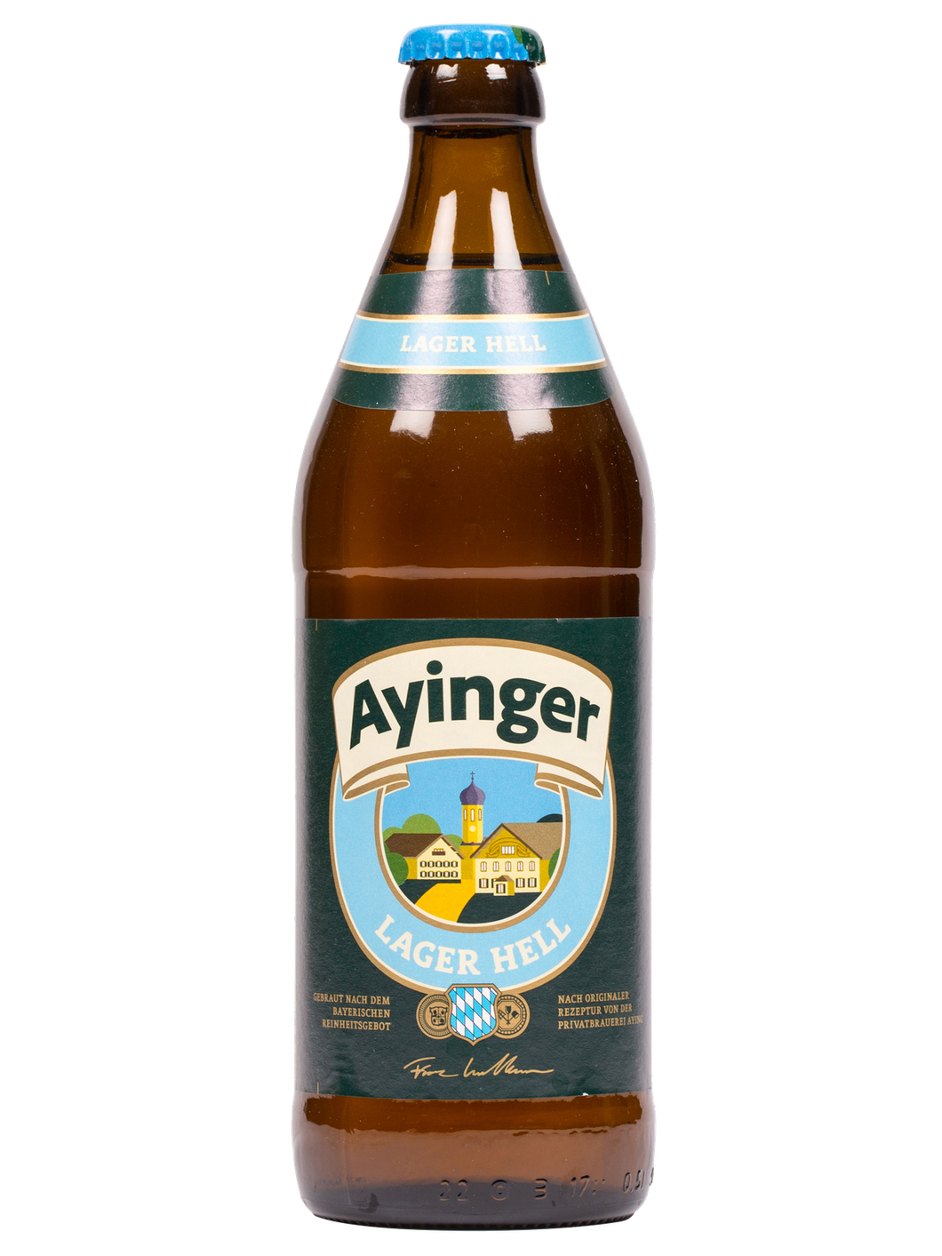 Ayinger Lager Hell - Ayinger Privatbrauerei - Lager Hell, 4.9%, 500ml Bottle