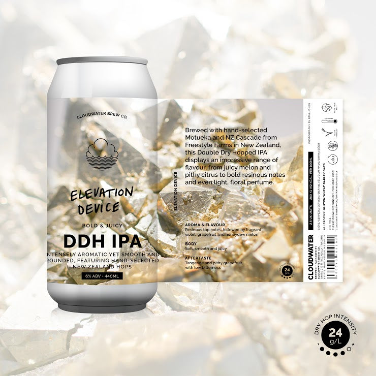 Elevation Device - Cloudwater - DDH IPA, 6%, 440ml