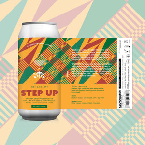 Step Up - Cloudwater X Rock Leopard - Stout, 5%, 440ml Can
