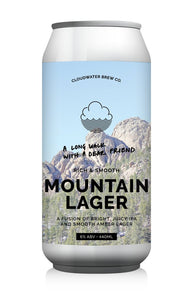 A Long Walk With A Dear Friend - Cloudwater - Mountain Lager, 6%, 440ml Can