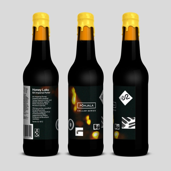 Honey Laku - Põhjala Brewery - Barrel Aged Honey, Liquorice Root & Blackcurrant Imperial Porter, 10.5%, 330ml Bottle