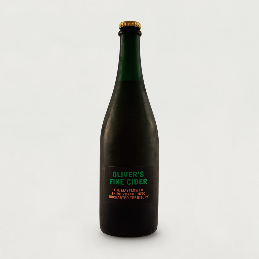 The Mayflower Third Voyage Into Uncharted Territory - Oliver's - Rum, Red Wine & Whisky oak barrels Cider, 8.8%, 750ml Bottle