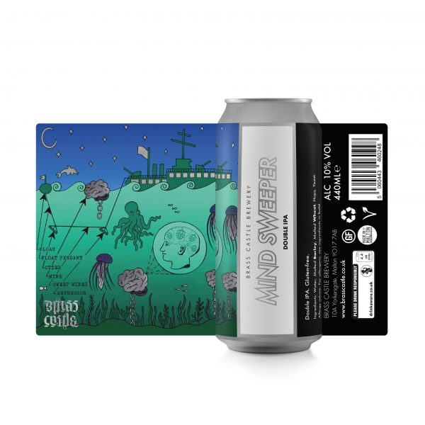 Mind Sweeper - Brass Castle - Gluten Free DIPA, 10%, 440ml