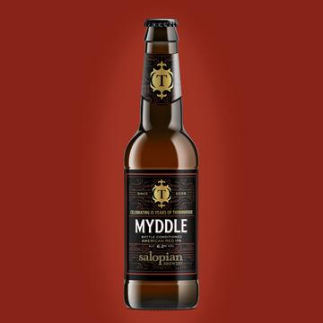 Myddle - Thornbridge Brewery X Salopian Brewery - American Red IPA, 6.2%, 330ml Bottle