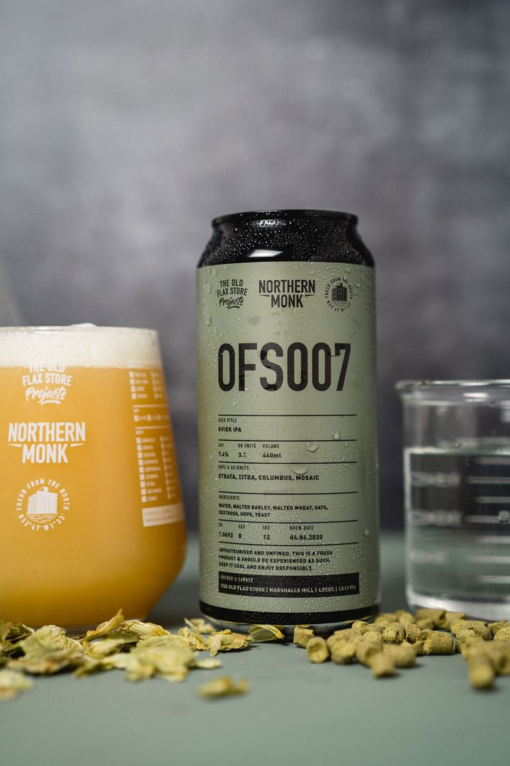 OFS007 - Northern Monk - Kviek IPA, 7.4%, 440ml Can