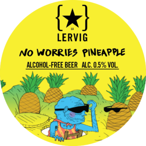 No Worries Pineapple - Lervig Bryggeri - Pineapple IPA, 0.5%, 440ml Can