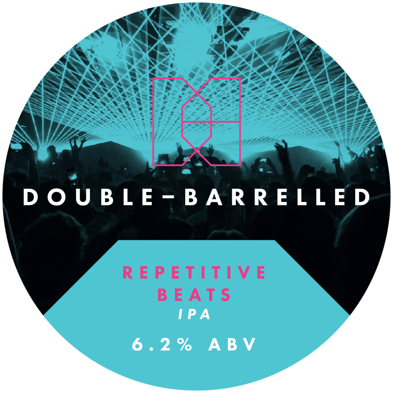 Repetitve Beats - Double Barrelled - IPA, 6.2%, 440ml Can