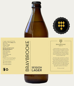 Session Lager - Braybrooke - Session Lager, 3.8%, 330ml Bottle