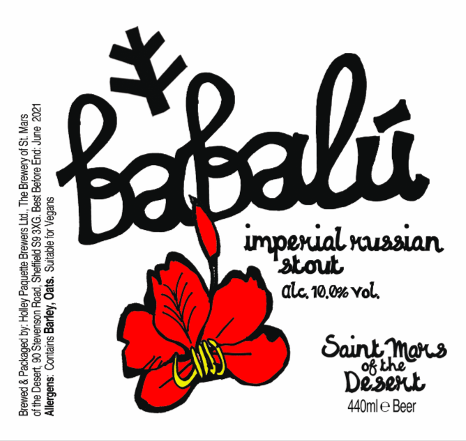 Babalu - Saint Mars Of The Desert - Imperial Russian Stout, 10%, 440ml