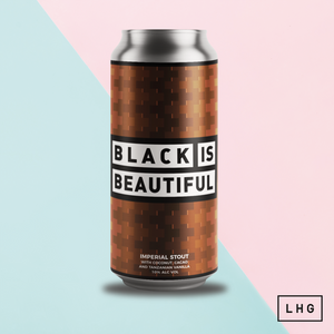 Black Is Beautiful - Left Handed Giant - Imperial Stout with Coconut, Cacao & Vanilla, 10%, 440ml Can