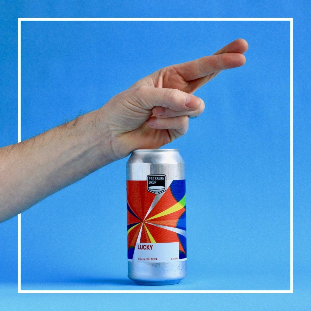 Lucky - Pressure Drop - Simcoe DDH New England IPA, 6.8%, 440ml Can