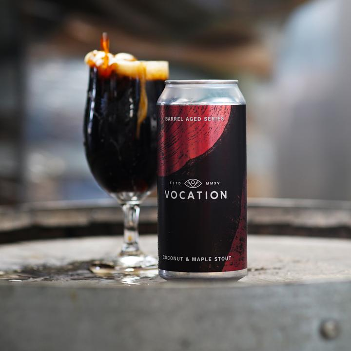 Barrel Aged Series Coconut & Maple Stout - Vocation Brewery - Bourbon Barrel Aged Coconut & Maple Imperial Stout, 11.6%, 440ml Can