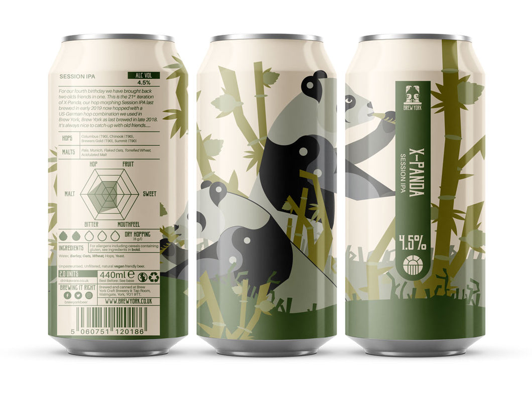 X-Panda - Brew York - Session IPA, 4.5%, 440ml Can