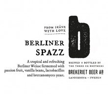 Load image into Gallery viewer, Berliner Spazz - Brekeriet - American Wild Ale with Passionfruit & Vanilla Beans, 5.3%, 330ml Bottle