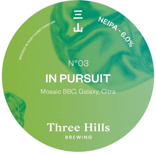 In Pursuit No 03 - Three Hills Brewing - New England IPA, 6%, 440ml Can