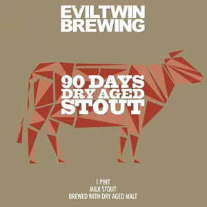 90 Days Dry Aged Stout - Evil Twin Brewing - Imperial Milk Stout, 9%, 473ml Can
