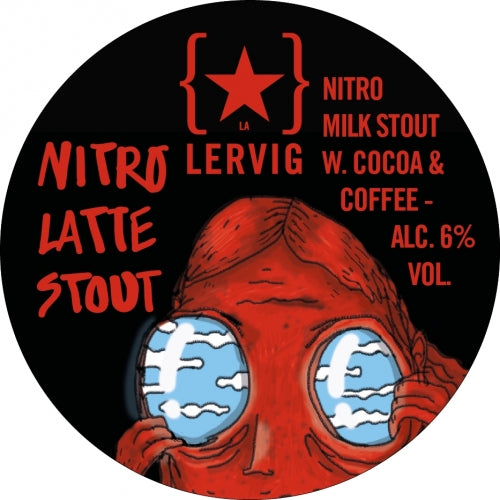 Nitro Latte - Lervig Bryggeri - Nitro Milk Stout with Cocoa & Coffee, 6%, 330ml