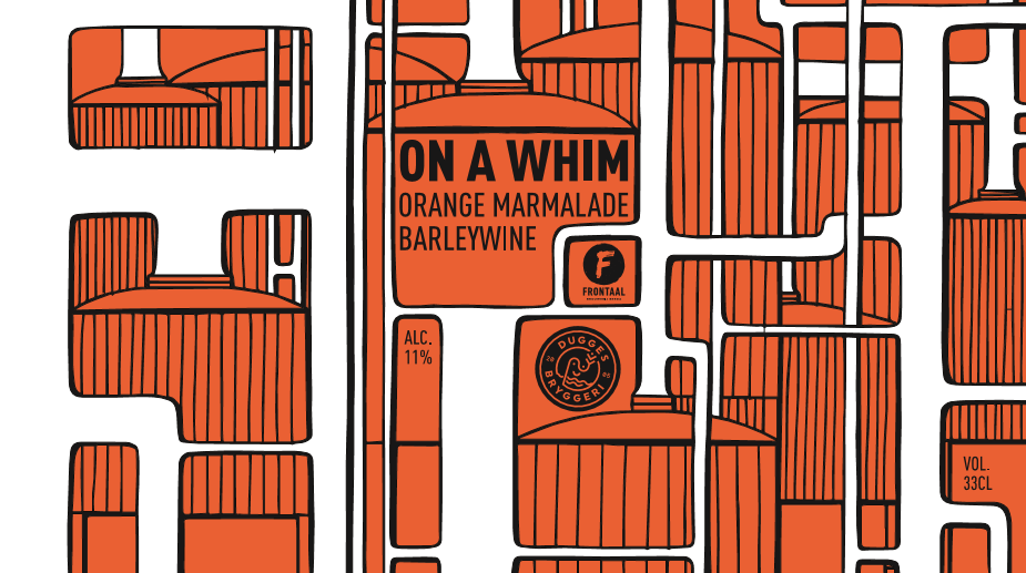 On A Whim - Brouwerij Frontaal X Dugges Bryggeri - Orange Marmalade Barley Wine, 11%, 330ml