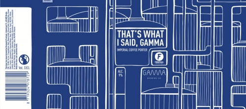 That's What I Said, Gamma - Brouwerij Frontaal X Gamma Brewing Co - Imperial Coffee Porter, 9%, 330ml