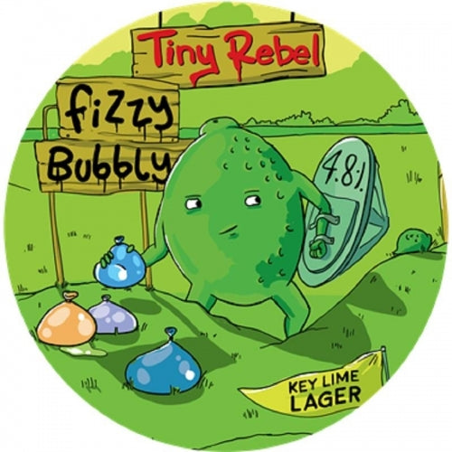 Fizzy Bubbly - Tiny Rebel - Key Lime Lager, 4.8%, 330ml