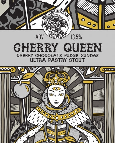Cherry Queen - Amundsen Brewery - Cherry Chocolate Fudge Sundae Ultra Pastry Stout, 13.5%, 440ml