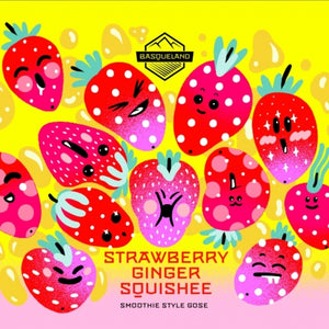 Strawberry Ginger Squishee - Basqueland Brewing Co - Strawberry & Ginger Gose, 6.5%, 440ml Can