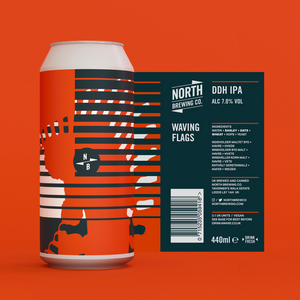 Waving Flags - North Brewing Co - DDH IPA, 6.5%, 440ml