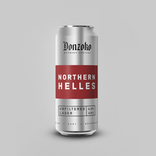Load image into Gallery viewer, Northern Helles - Donzoko Brewing Co - Helles Lager, 4.2%, 440ml