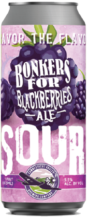 Bonkers For Blackberries Ale - Connecticut Valley Brewing - Blackberry Sour Ale, 5.5%, 473ml Can