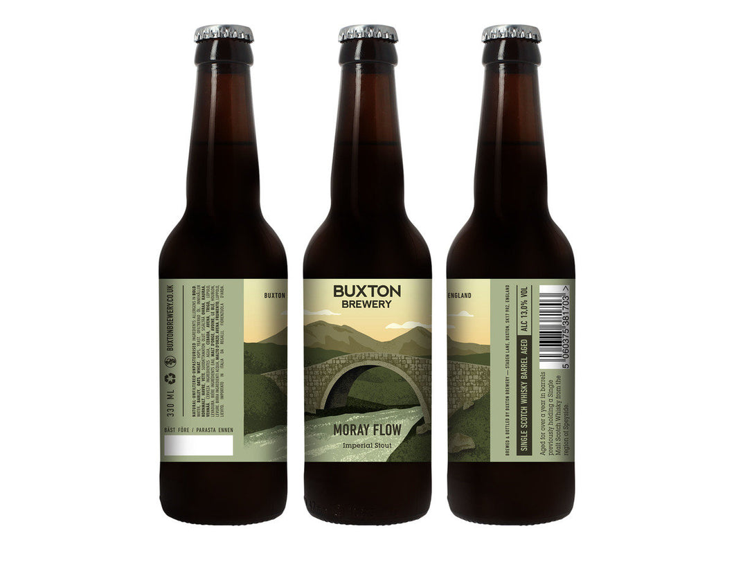 Moray Flow - Buxton Brewery - Single Scotch Whisky Barrel Aged Imperial Stout, 13%, 330ml Bottle
