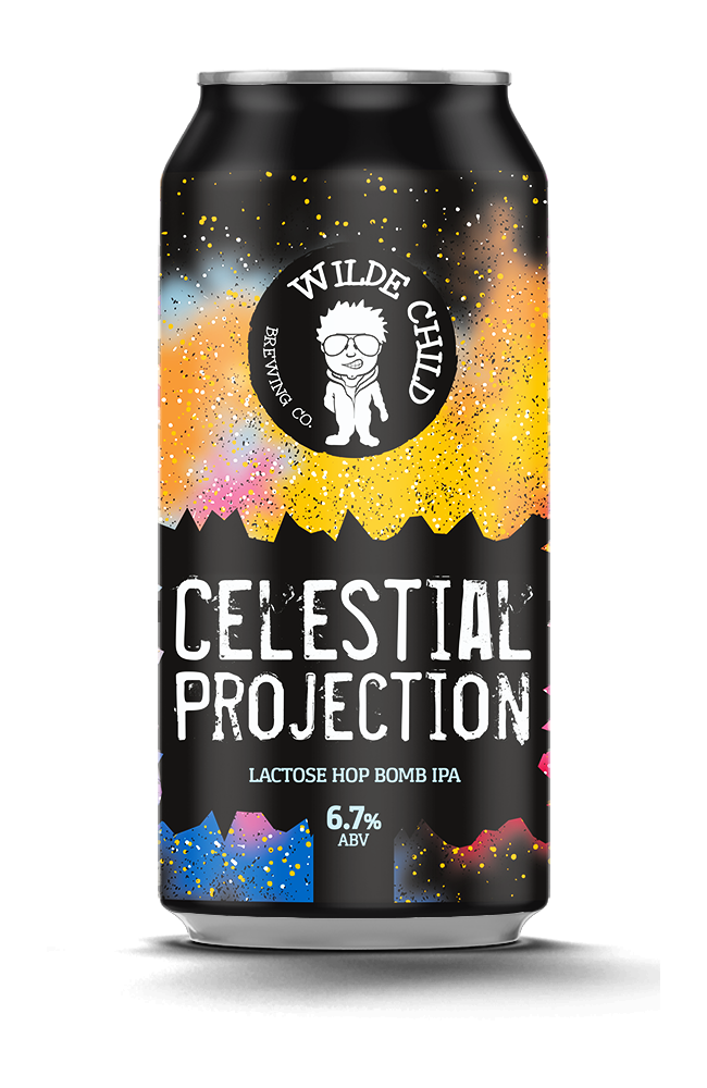 Celestial Projection - Wilde Childe Brewing Co - Lactose Hop Bomb IPA, 6.7%, 440ml Can