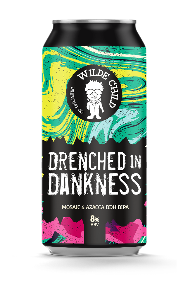 Drenched In Darkness - Wilde Childe Brewing Co - Mosaic & Azacca DDH DIPA, 8%, 440ml Can