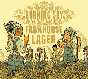 Farmhouse Lager - Burning Sky X Black Isle Brewing Co - Farmhouse Lager, 4.8%, 440ml Can