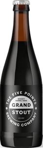 Grand Stout Whisky Barrel Aged - Five Points Brewing Co - Auchentoshan Whisky Barrel Aged Imperial Stout, 12%