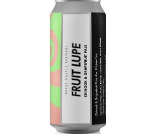 Fruit Lupe - Brass Castle - Gluten Free Chinook/Grapefruit Pale Ale, 4.8%, 440ml Can